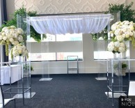 Acrylic Chuppah at Malaparte